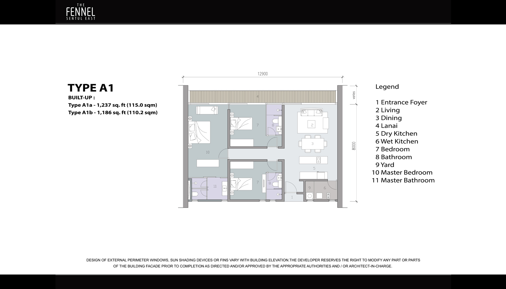 The Fennel Sentul East Floor Plan
